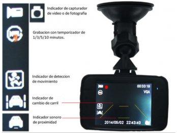Video Camara p/automovil - interior - 720p -soporte p-par