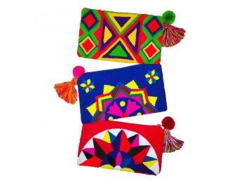 clutch sobres de mano carteras wayuu importadas diseños unic