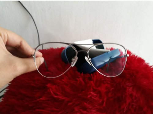 fd59477d9d lentes grandes transparentes marco plateado con formula - Clasionce ...