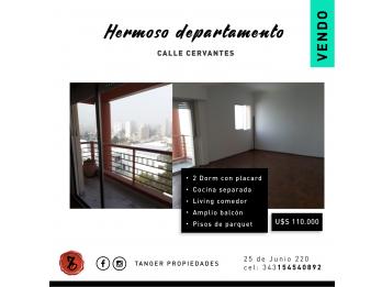 HERMOSO DEPARTAMENTO 2 DORM, COCHERA - CALLE CERVANTES