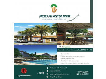 BARRIO PRIVADO - ACCESO NORTE, EXCLUSIVO