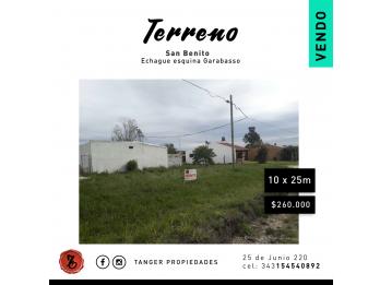 TERRENO EN SAN BENITO - ECHAGUE Y GARABASO