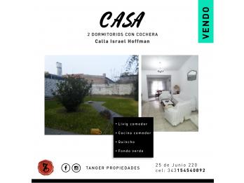 CASA DE CALIDAD, CON FONDO Y QUINCHO - CALLE ISRAEL HOFFMAN