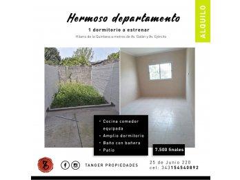 SE ALQUILA HERMOSO DPTO. A ESTRENAR - HILARIO DE LA QUINTANA