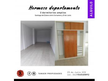 HERMOSO Y AMPLIO DPTO. 3 DORM. CALLE SANTIAGO DEL ESTERO