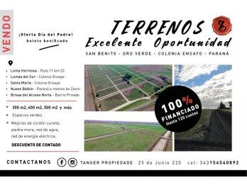 OPORTUNIDAD! ENTREGA DE $50.000 Y 24 CUOTAS FIJAS EN PESOS!!