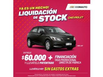 LIQUIDACION DE STOCK CHEVROLET