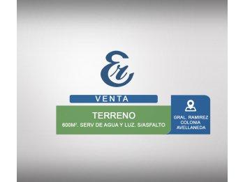 Venta - Lotes - calle Gral Ramirez - Colonia Avellaneda