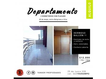 DEPARTAMENTO 2 DORMITORIOS CON COCHERA CUBIERTA - 25 DE MAYO