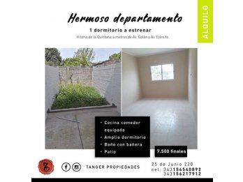DPTOS. A ESTRENAR 1 DORMITORIO - HILARIO DE LA QUINTANA