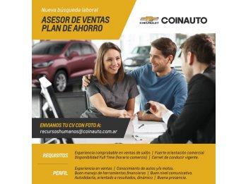 COINAUTO ASESOR DE VENTAS PLAN DE AHORRO