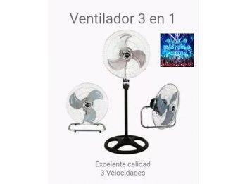 """Ventilador 3 en 1  18"""" 3 Aspas Metal. Gran caudal de aire"""