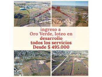 LOTES ENTRADA DE ORO VERDE.-GRAN OFERTA AL CONTADO !