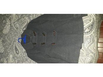 Saco de paño gris talle S