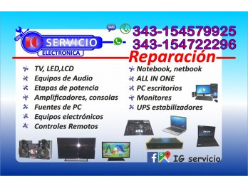 Reparaciones de NOTEBOOK, netbook all in one . Multimarca