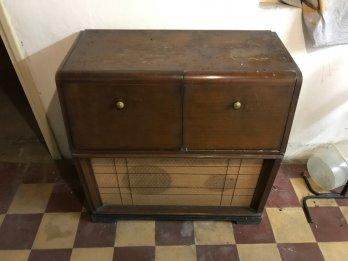 Mueble Combinado Tocadiscos Winco Antiguo