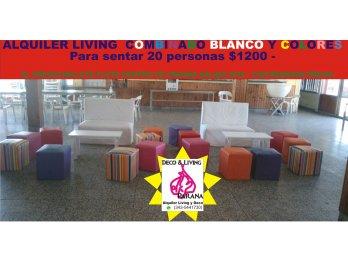ALQUILER LIVING COMBINADOS PARA 20 PERSONAS $1200