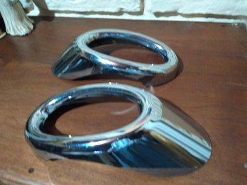 Vendo juego de cubrefaros antiniebla cromados P/Honda Civic