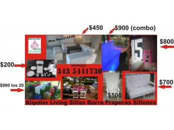 LOW COST EN ALQUILER DE LIVING POR CANTIDAD - WHATSAPP 343 5