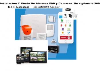 Instalacion y venta de alarmas wifi Y camaras de Seguridad