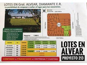 LOTES EN PUERTO ALVEAR! PROYECTO MANZANA 213!
