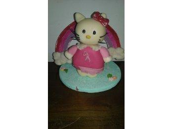 Arreglo para torta en porcelana fría de Hello Kitty