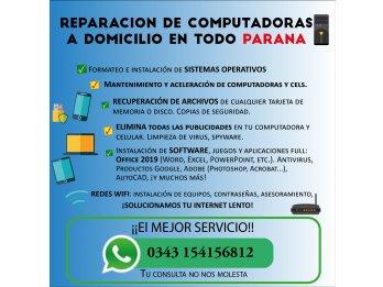Reparación de Computadoras, Celulares y RedesWIFI