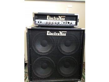 Amplificador De Bajo Electrovox Cabezal Bt120 + Caja 4x10