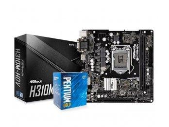 Procesador Pentium Gold G5400 + Motherboard Asrock H310M-HDV