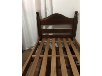 Vendó cama algarrobo 1 plaza