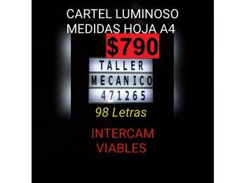CARTEL DECORATIVO LED LETRAS INTERCAMBIABLES PARA LOCALES