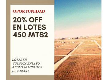 LOTEO TIERRA ALTA III - $270.000 - 450mt2