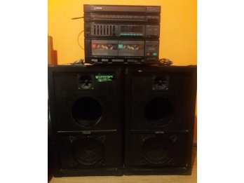 Equipo musica Philips tocadiscos y cassette antiguo