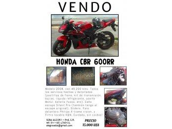 DUEÑO VENDE HONDA CBR 600 RR 2008