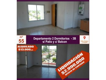 VENDO Departamento 2 dormitorios 55m² - Gob. Crespo y Vieyte