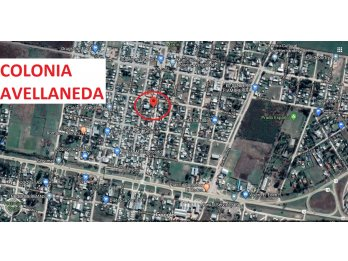 VENDO LOTE COLONIA AVELLANEDA CENTRO 15X30 TODOS LOS SVS
