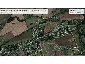 VENDO TERRENO 600 M2., SAUCE MONTRULL
